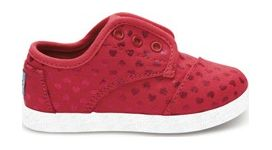TOMS Canvas Hearts Kid's Paseo Sneaker Pink 24,5