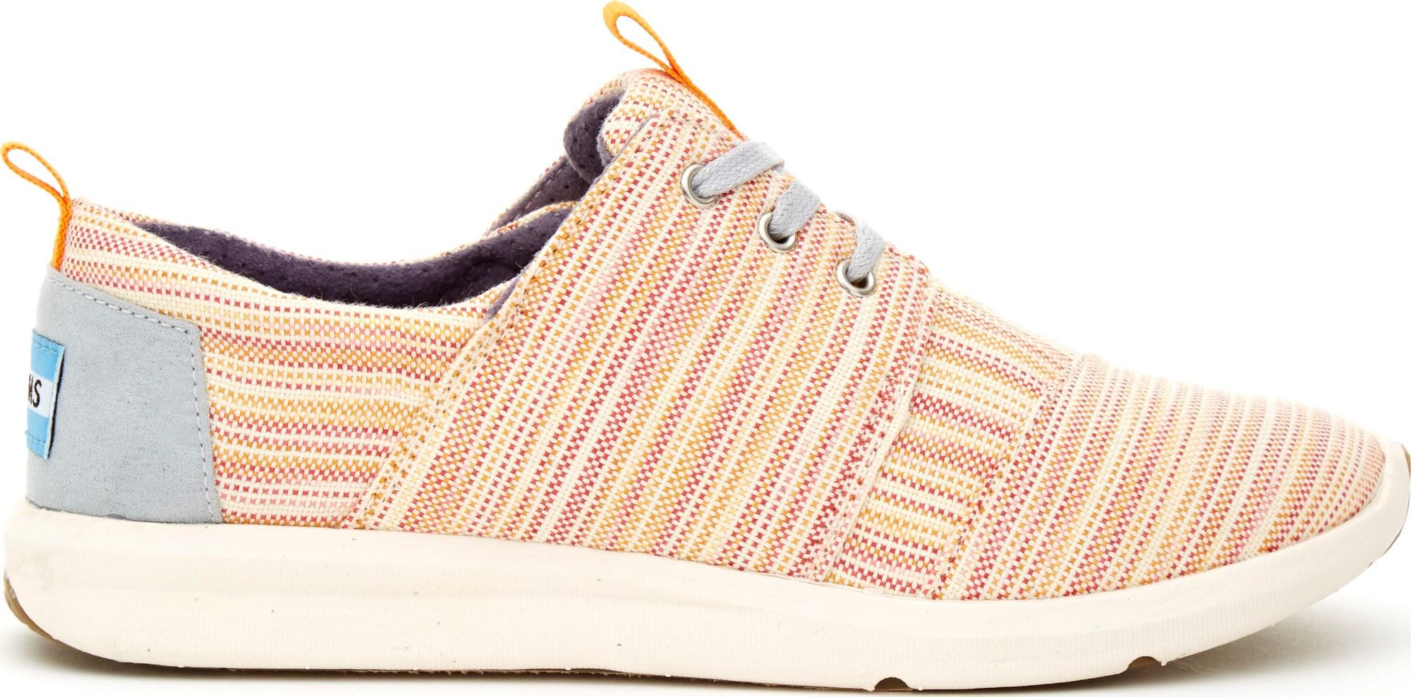 TOMS Stripe Women's Del Rey Sneaker Orange/Multi 37,5