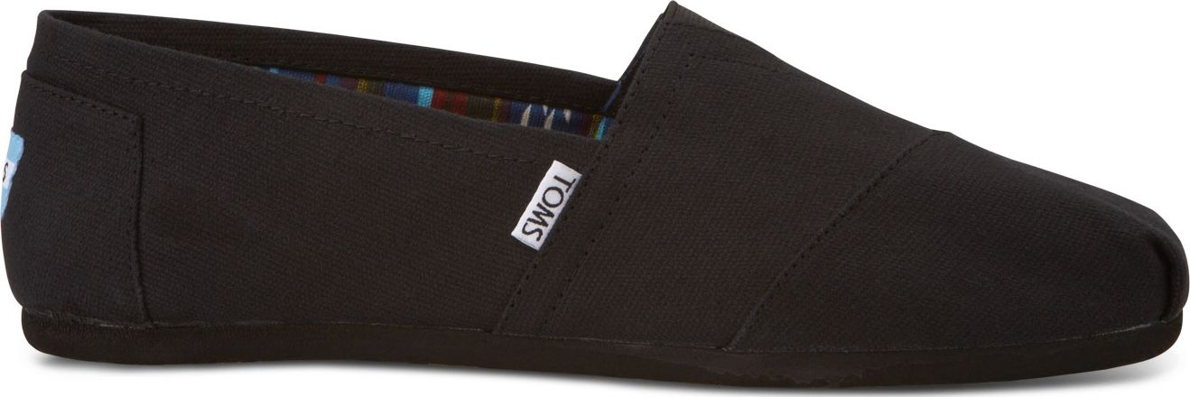 TOMS Canvas Men's Classic Alpargata Nl Black/Black 43,5