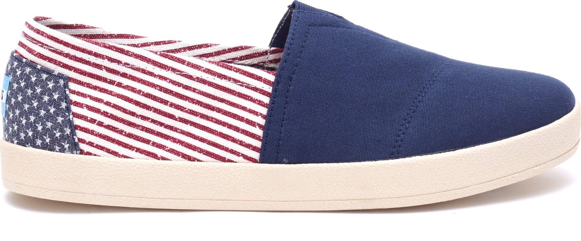 TOMS Canvas Flag Men's Avalon Sneaker Americana 41