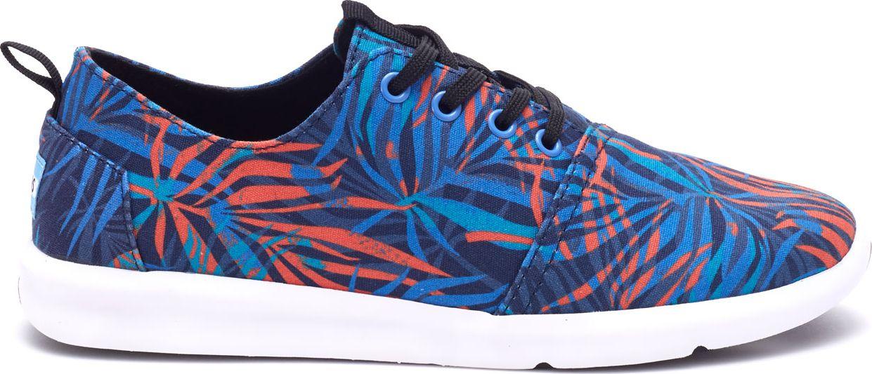 TOMS Palms Print Men's Del Rey Sneaker Multi 46