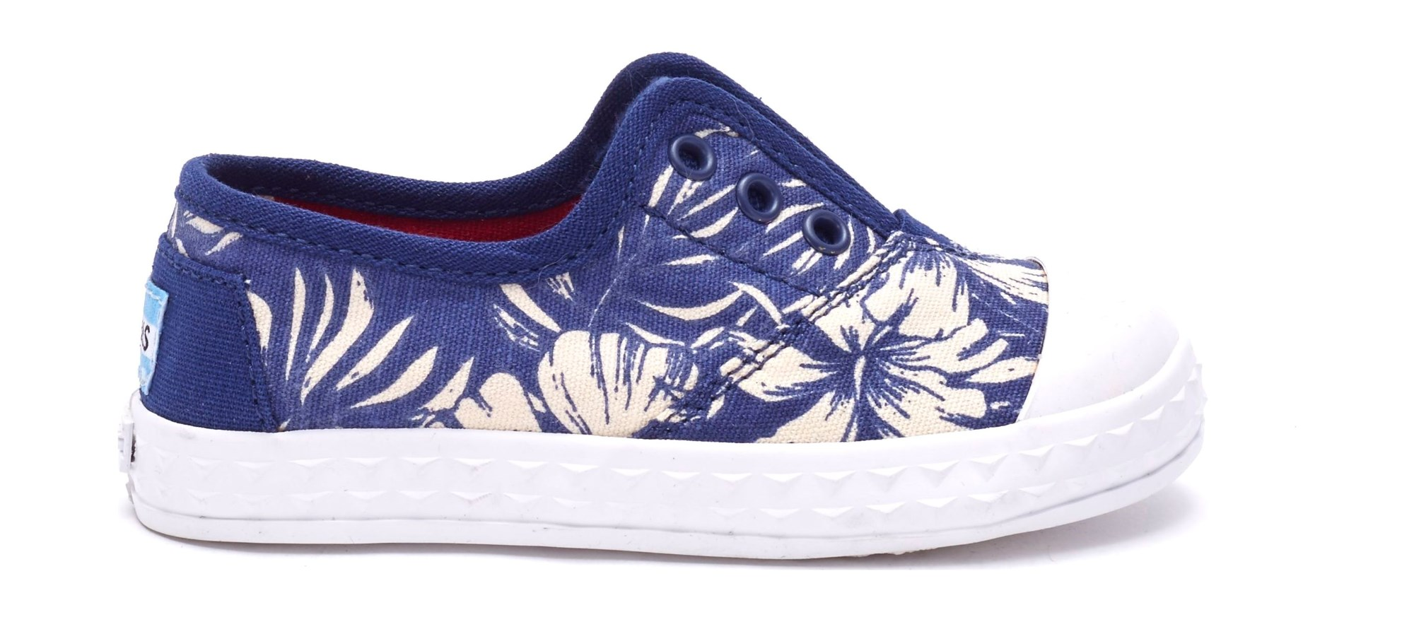 TOMS Canvas Floral Kid's Zuma Sneaker Blue 27