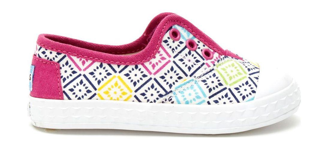 TOMS Canvas Vintage Tiles Kid's Zuma Sneaker Pink 28,5