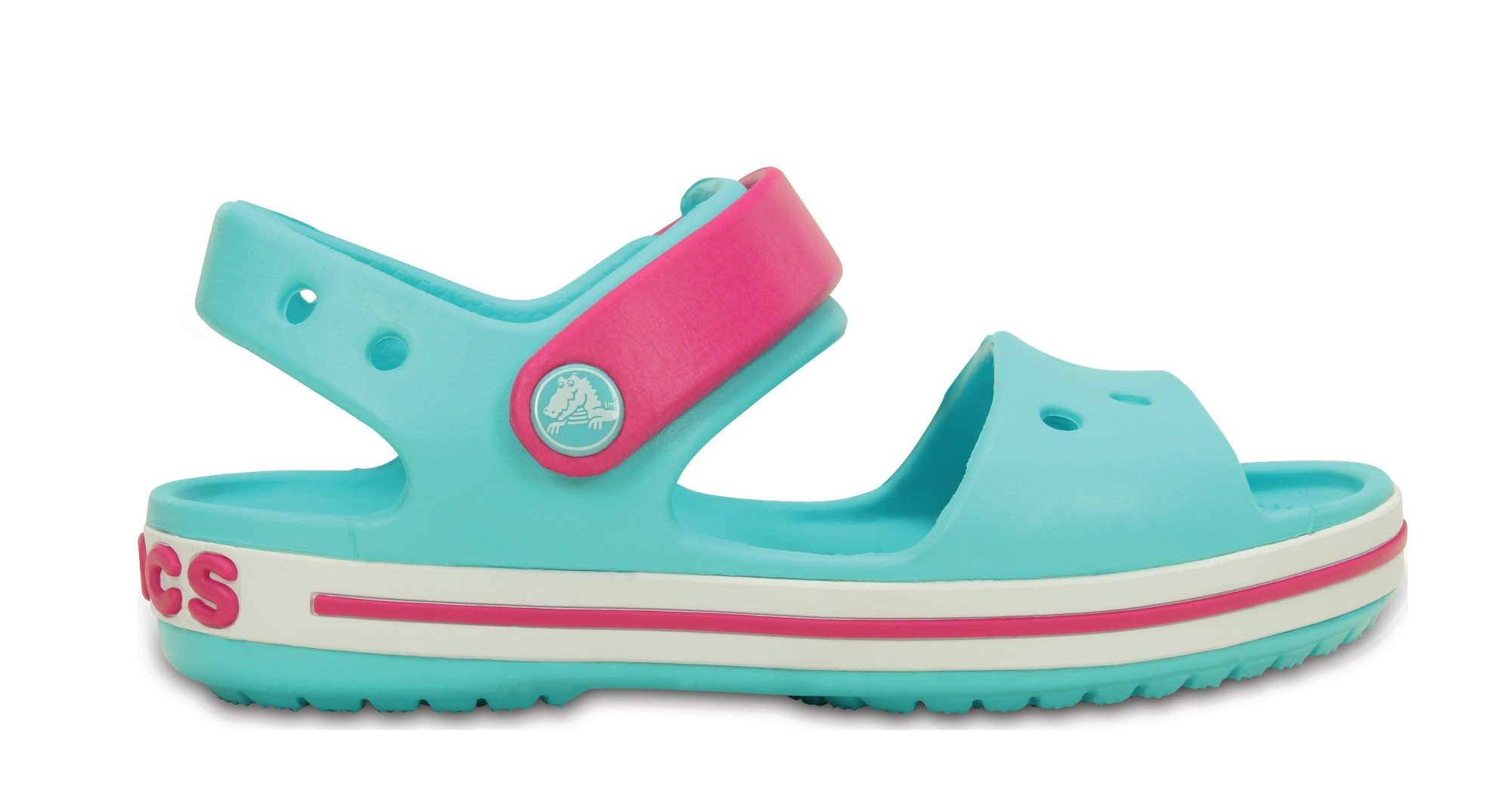 Crocs™ Kids' Crocband Sandal Pool/Candy Pink 29