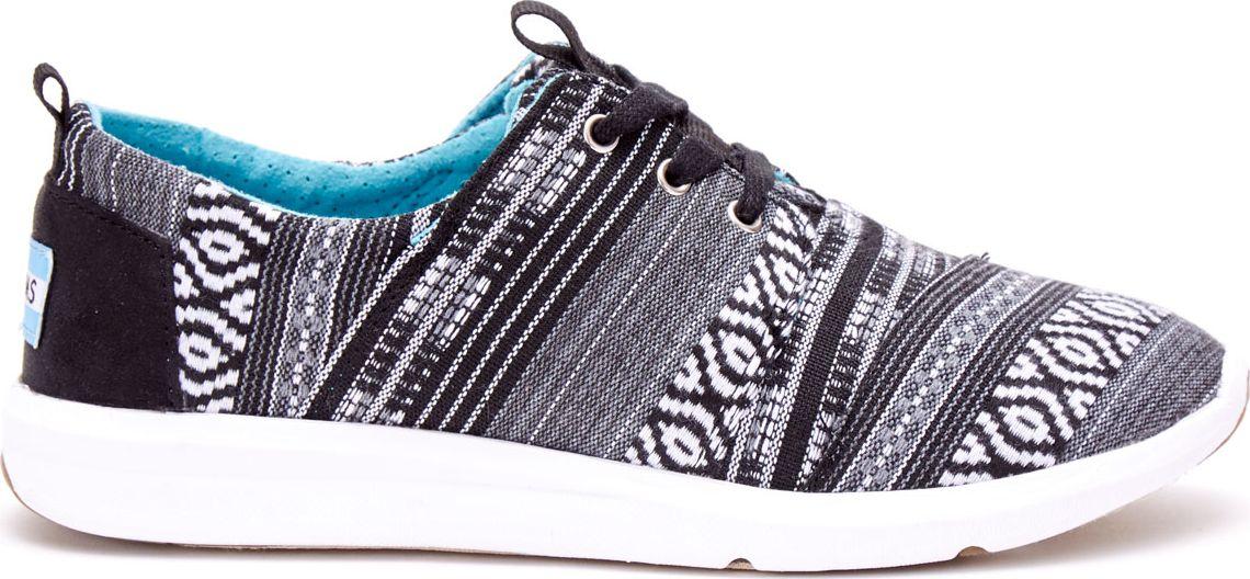 TOMS Cultural  Woven Women's Del Rey Sneaker Black/White 37,5