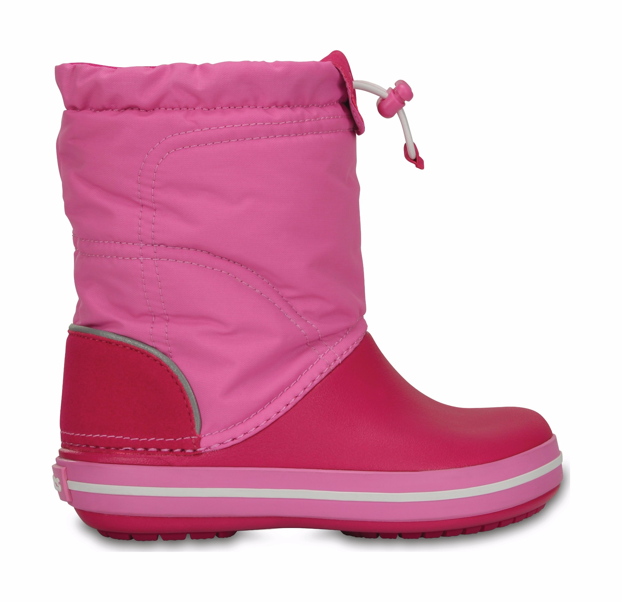 Crocs™ Kids' Crocband Lodgepoint Boot Candy Pink/Party Pink 26