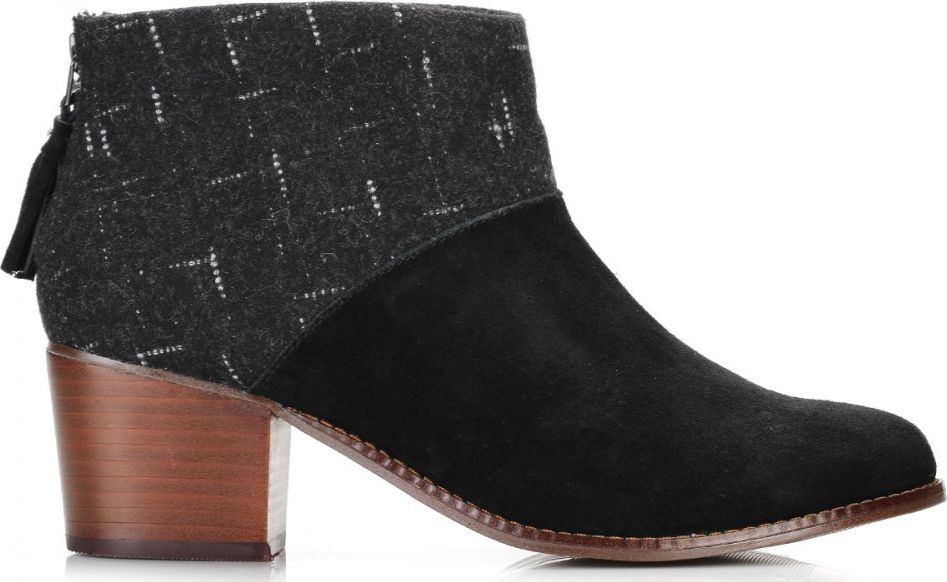 TOMS Wool Women's Leila Bootie Black/Dotted 36,5