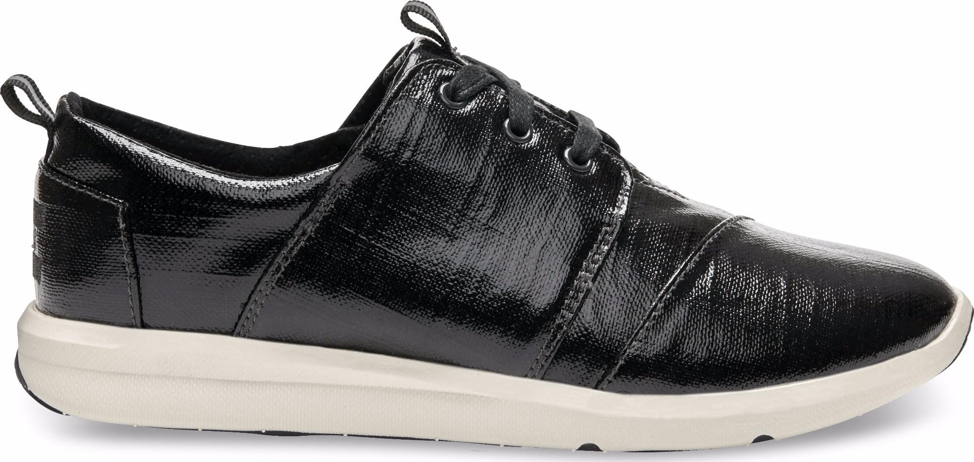 TOMS Patent Linen Women's Del Rey Sneaker Black 36,5