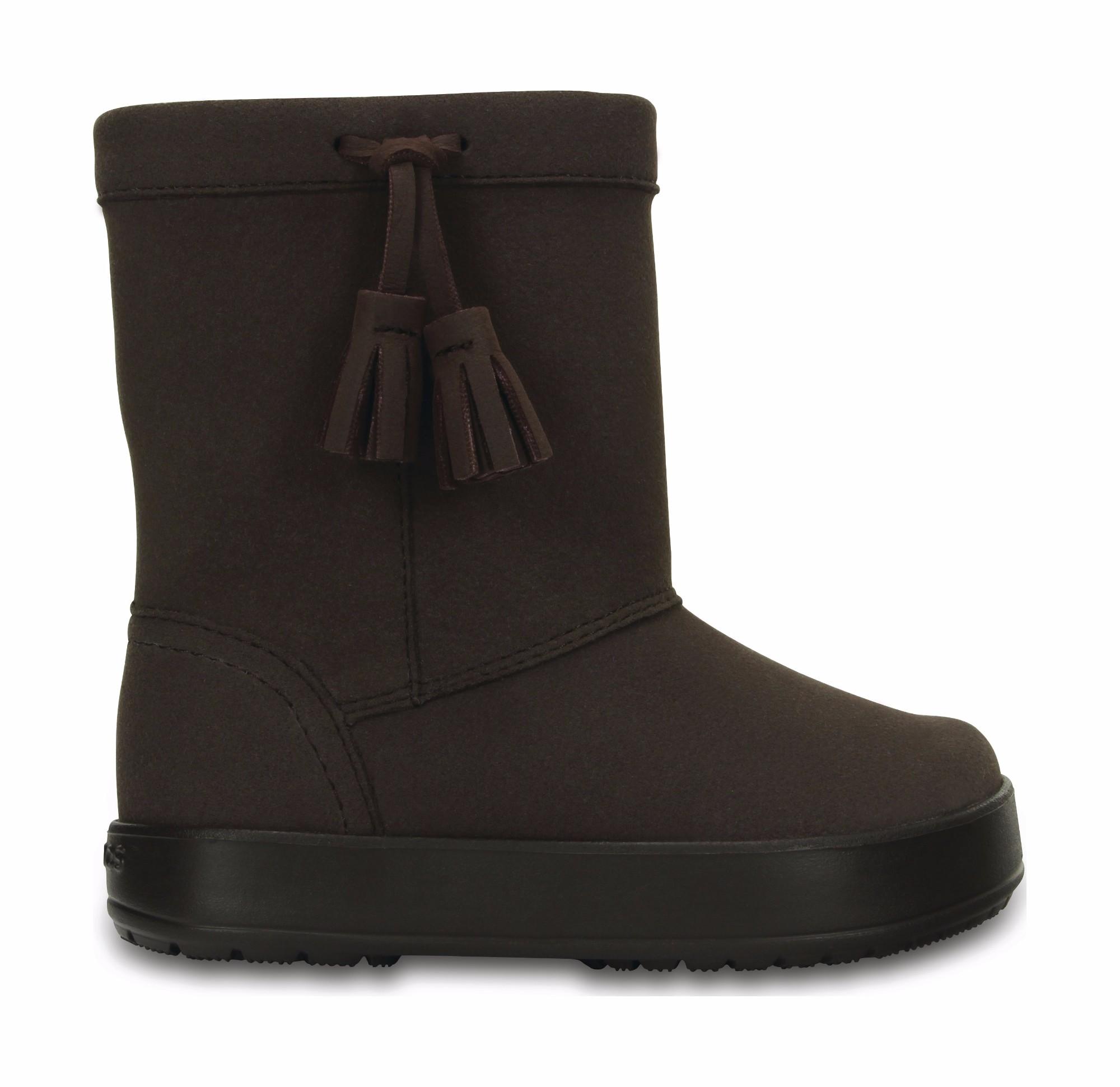 Crocs™ Kids' LodgePoint Boot Espresso 24
