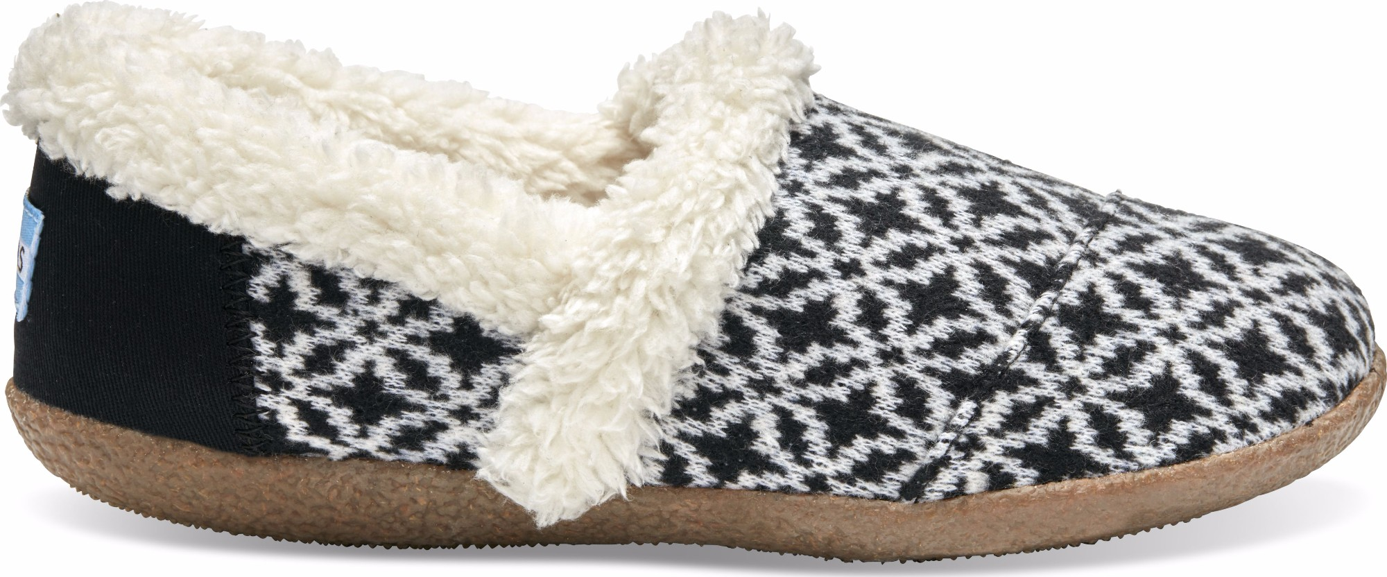 TOMS Fair Isle Woven Women's Slippers Black/White 37,5