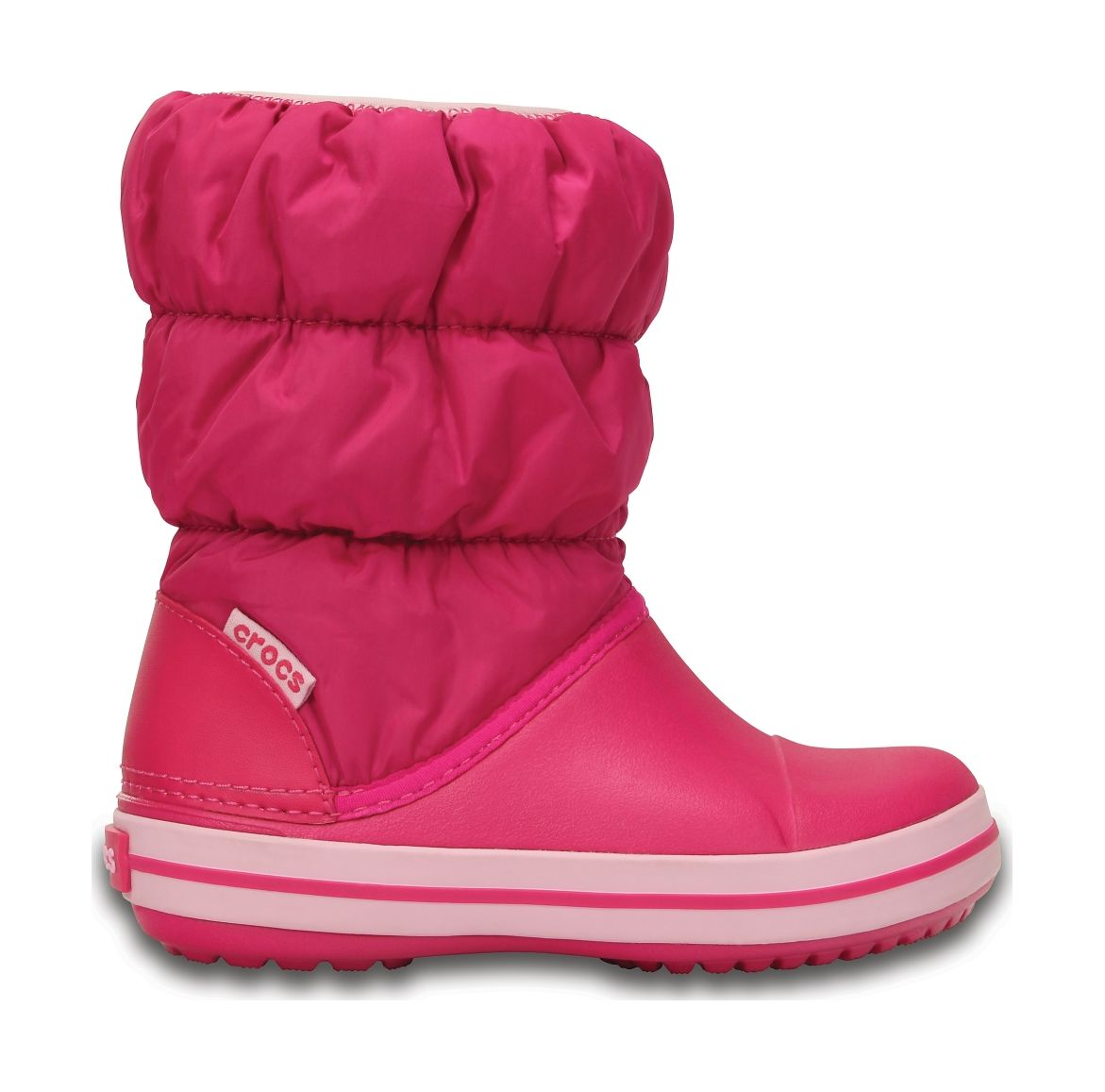 Crocs™ Kids' Winter Puff Boot Candy Pink 28
