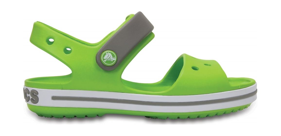 Crocs™ Kids' Crocband Sandal Volt Green/Smoke 24