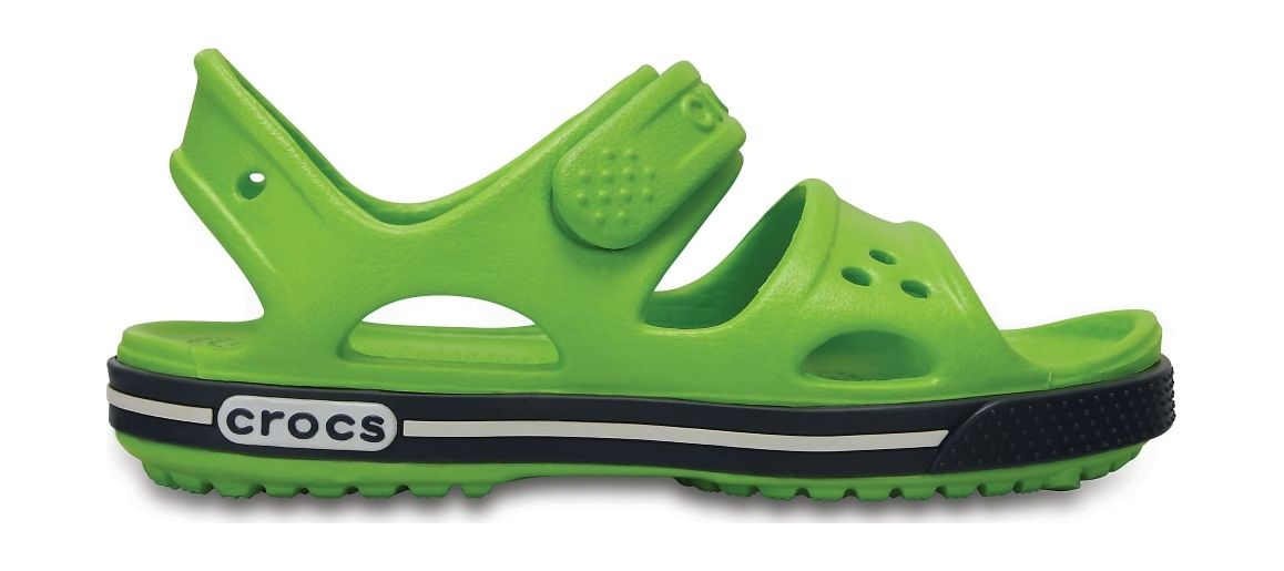 Crocs™ Kids' Crocband II Sandal PS Volt Green/Navy 22