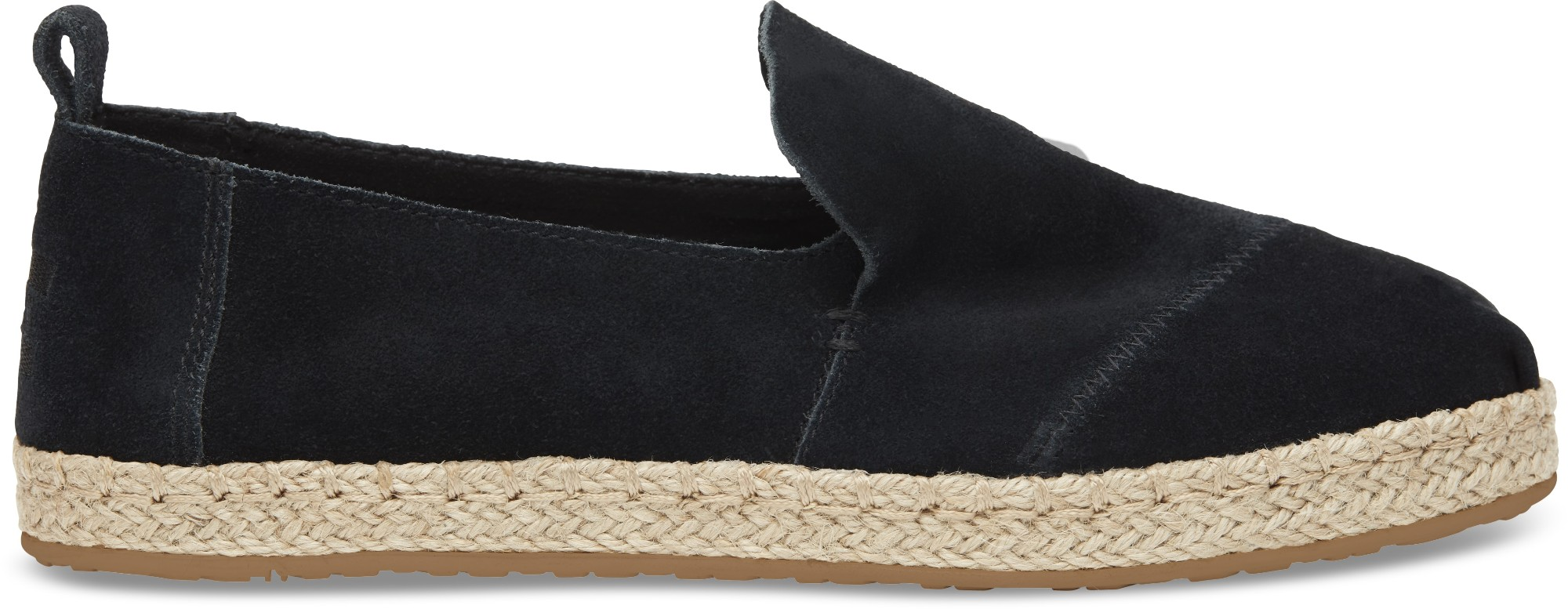 TOMS Suede Women's Deconstructed Alpargata Black 39