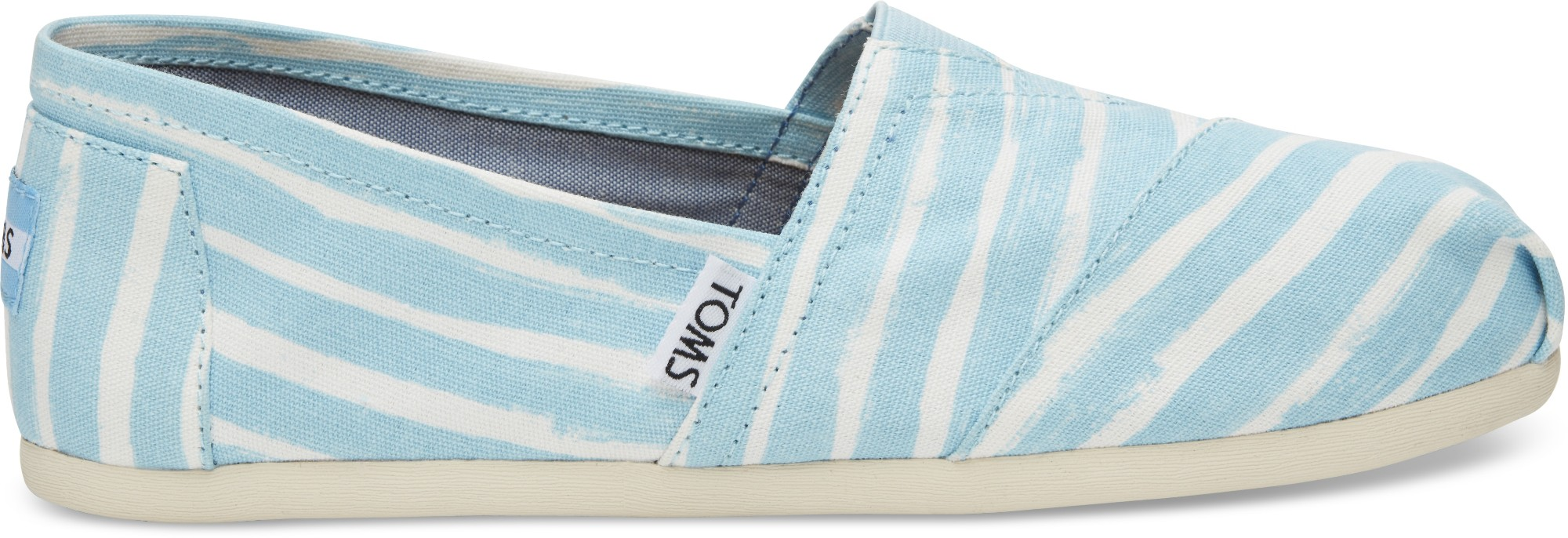 TOMS Painted Stripe Women's Alpargata Pale Blue 38