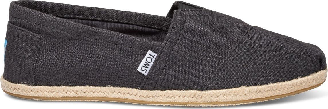 TOMS Linen Rope Men's Alpargata Black 45