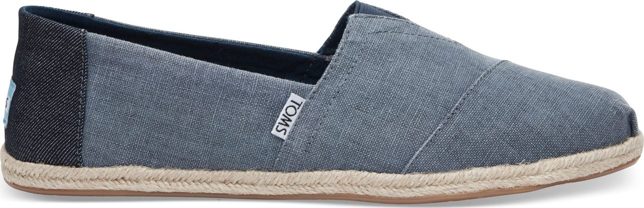 TOMS Coated Linen Rope Men's Alpargata Deep Ocean 42