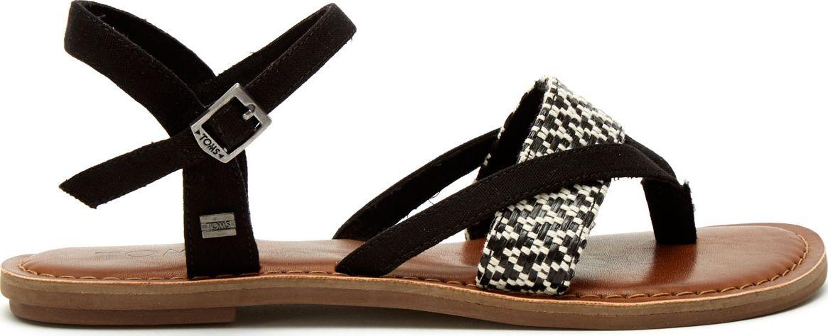 TOMS Woven Women's Lexie Sandal Black/White 38
