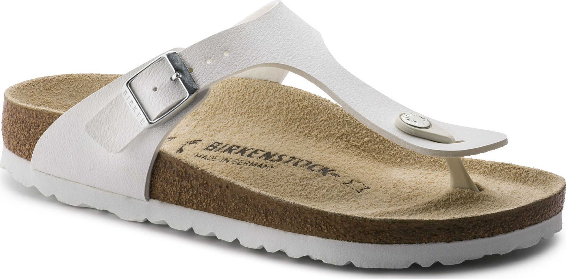Birkenstock Gizeh White Regular 40