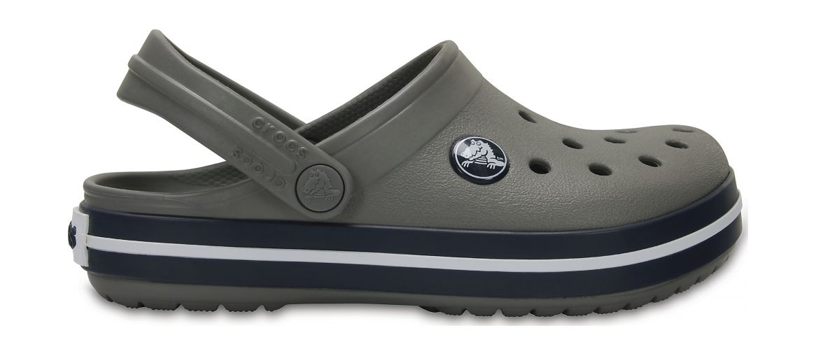 Crocs™ Kids' Crocband Clog Smoke/Navy 27