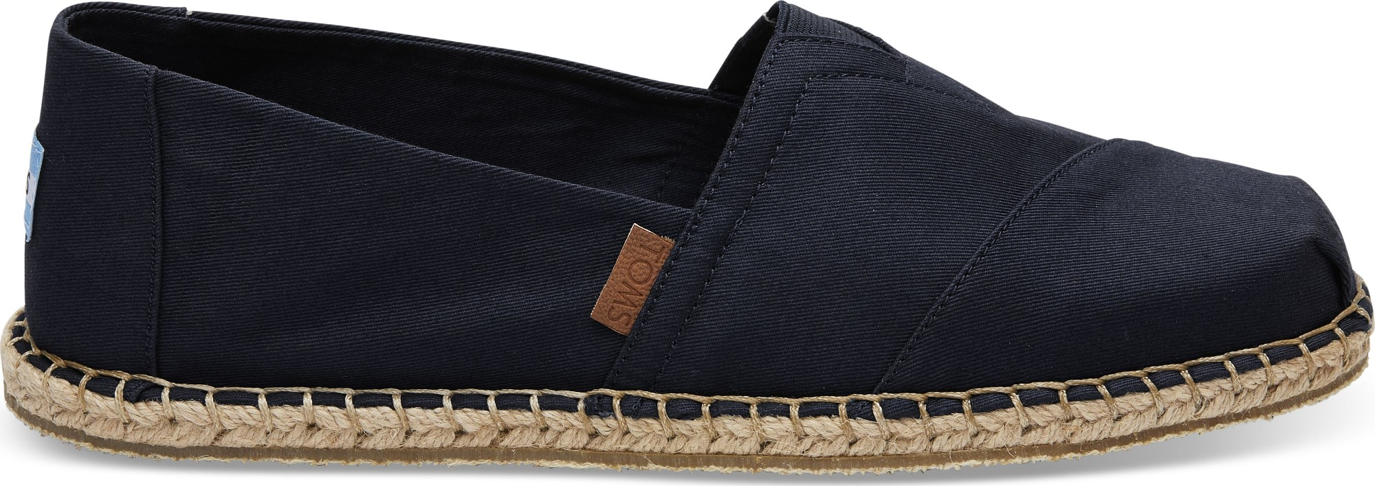 TOMS Canvas Blanket Stitch Men's Alpargata Black 42