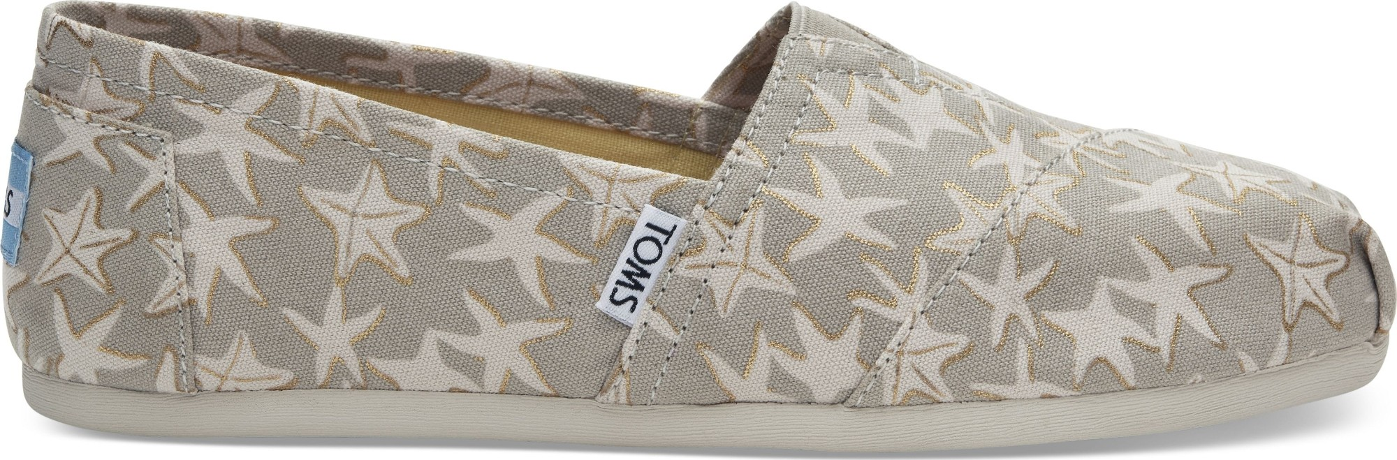 TOMS Foil Starfish Women's Alpargata Oxford Tan/Gold 40