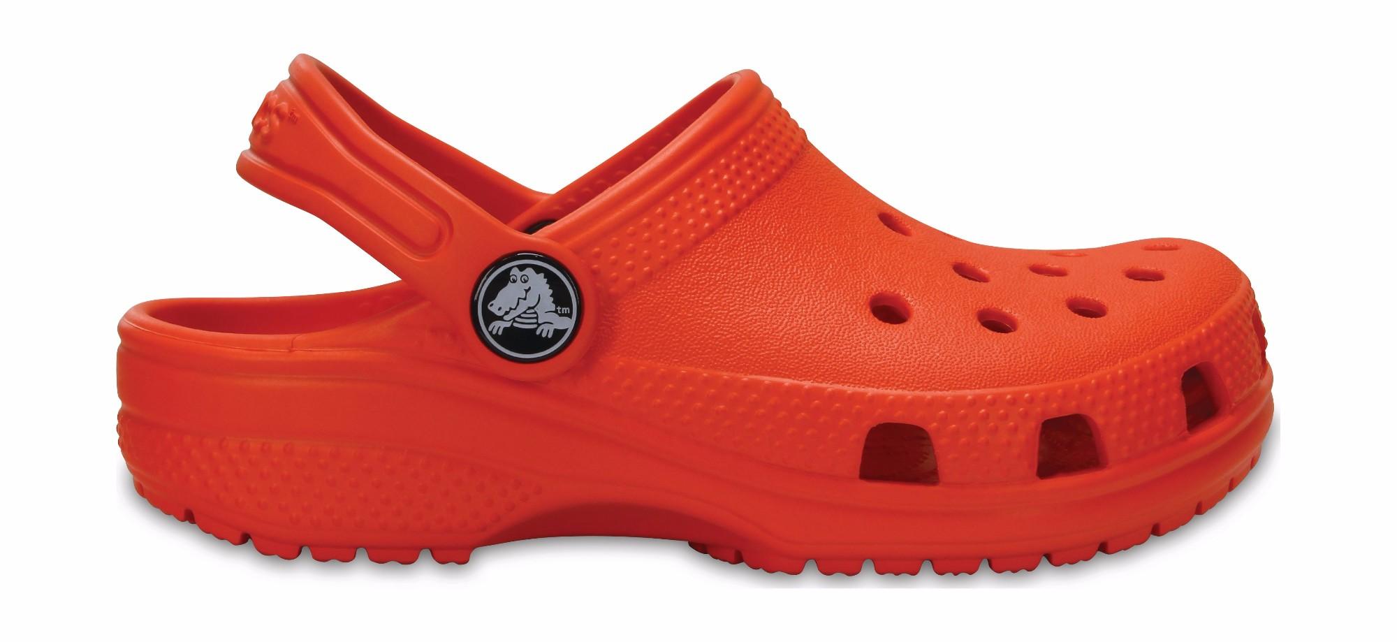 Crocs™ Kids' Classic Clog Tangerine 26