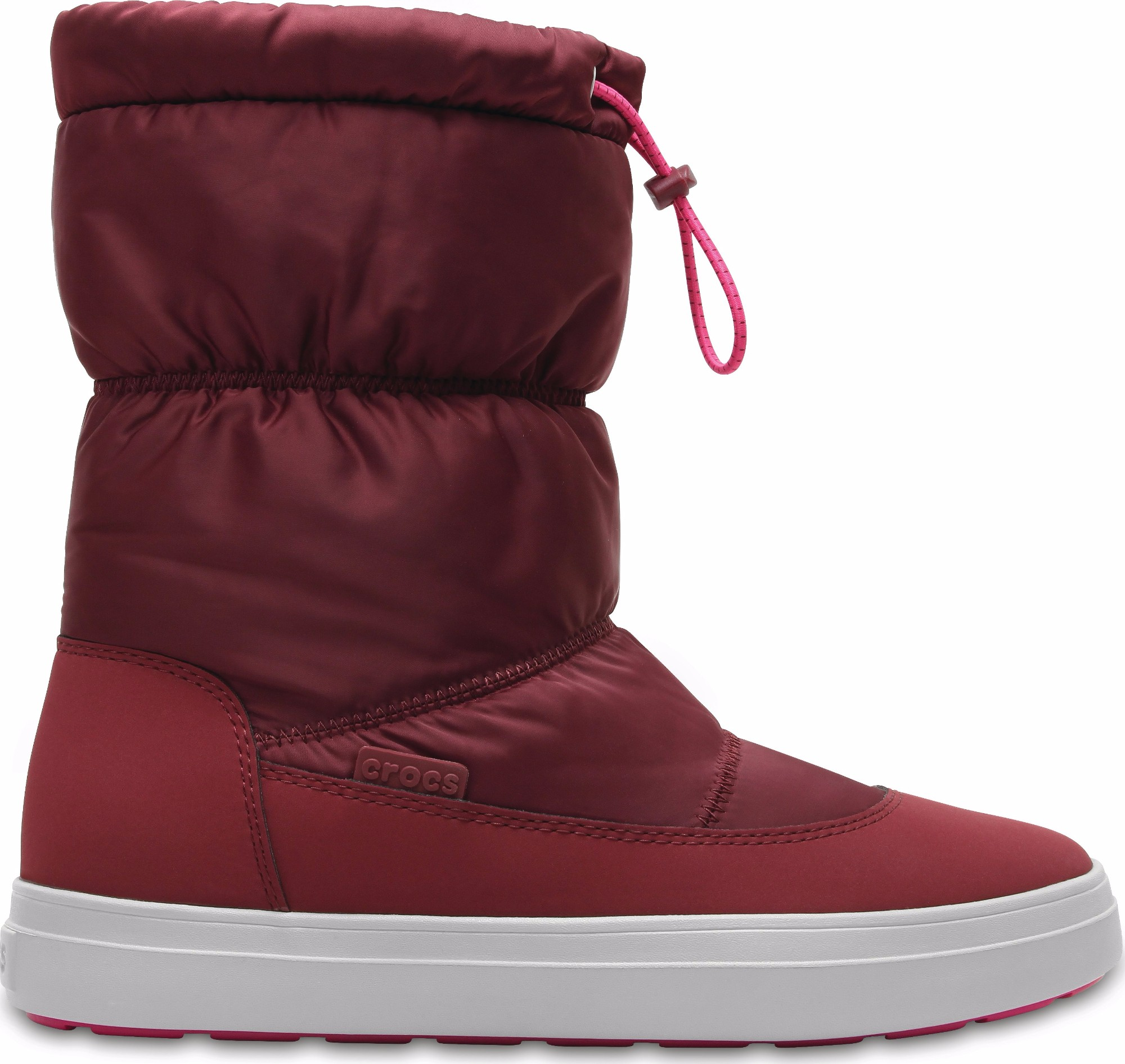 Crocs™ Lodgepoint Shiny Pull-On Boot Garnet/Candy Pink 41