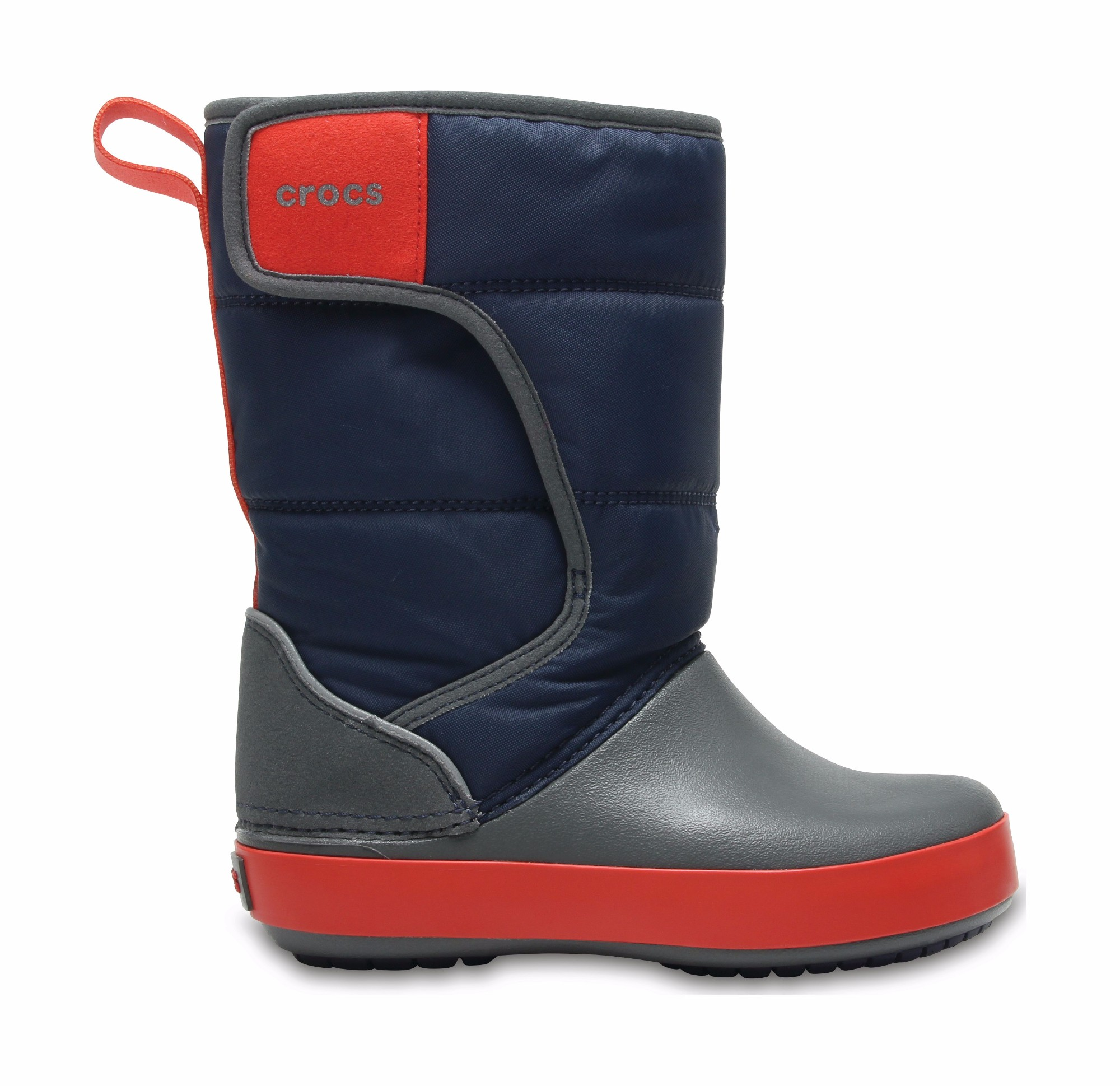Crocs™ Lodgepoint Snow Boot Kid's Navy/Slate Grey 30