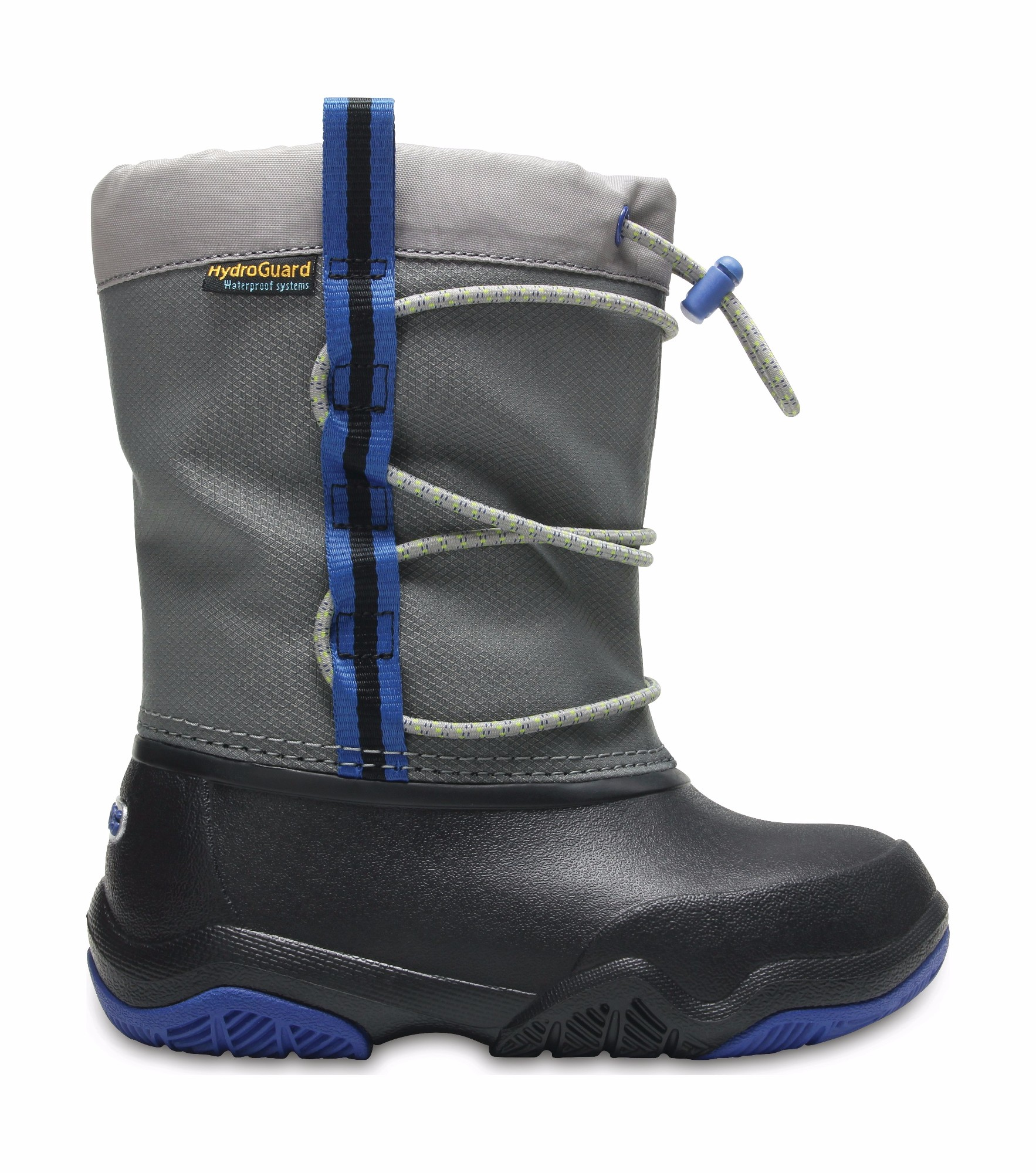 Crocs™ Swiftwater Waterproof Boot Kid's Black/Blue Jean 23