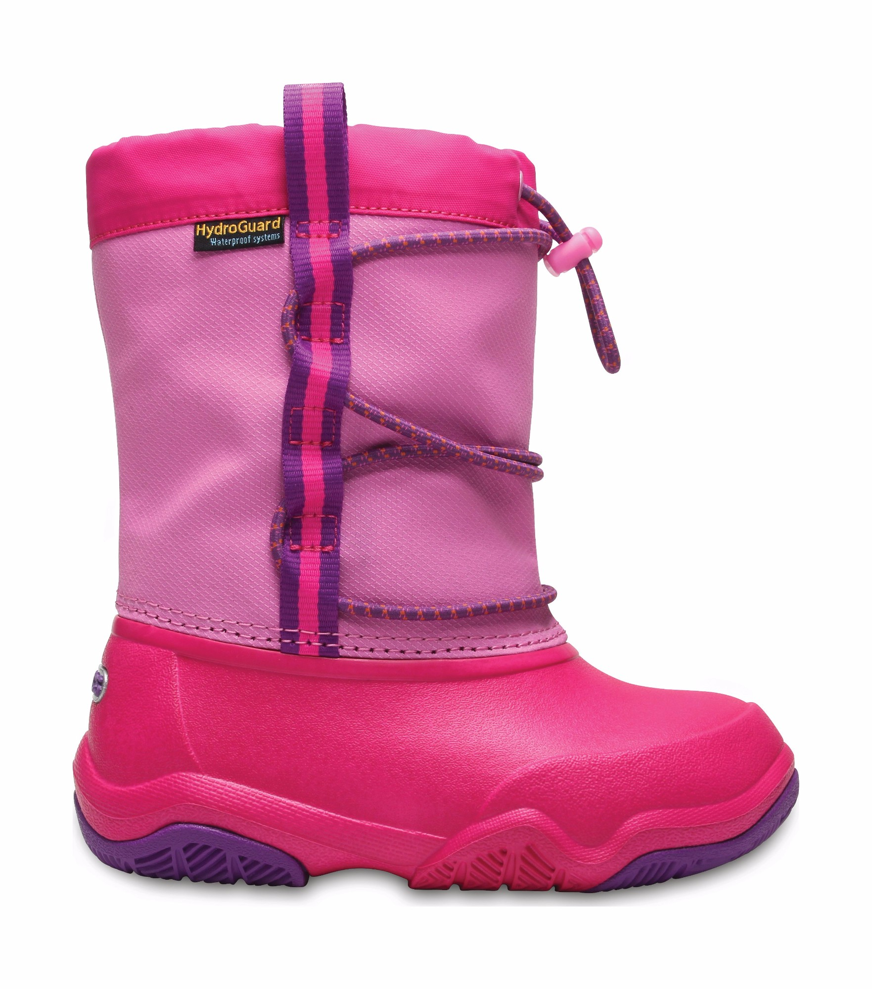 Crocs™ Swiftwater Waterproof Boot Kid's Party Pink/Candy Pink 26