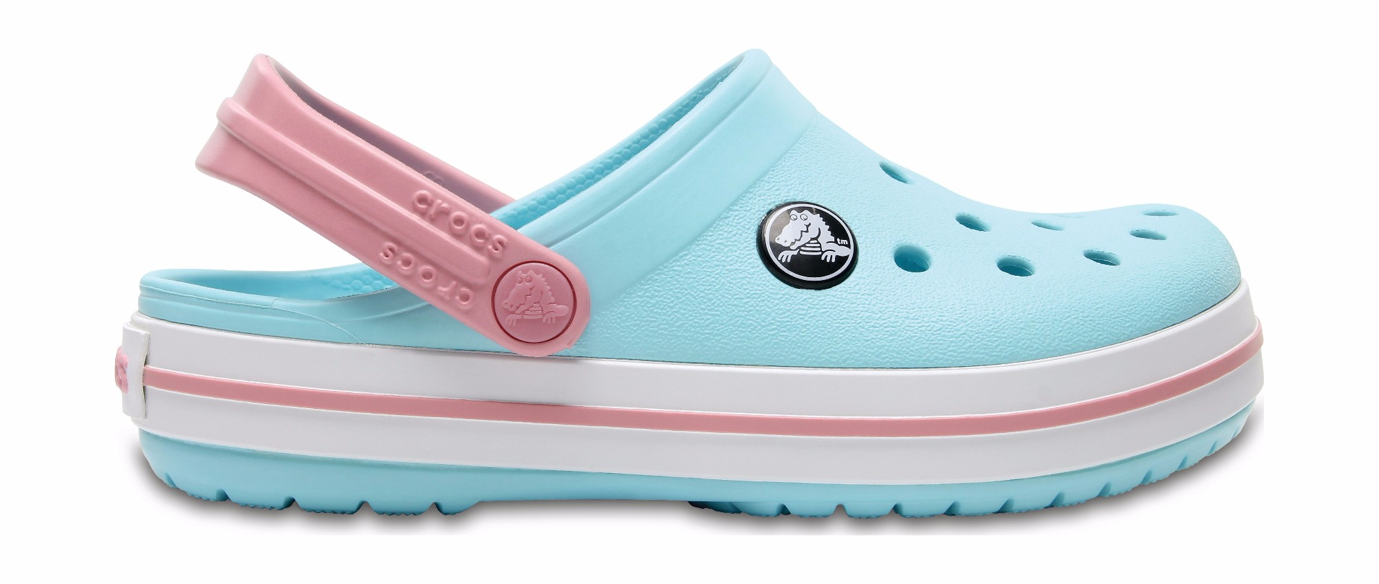 Crocs™ Kids' Crocband Clog Ice Blue/White 29