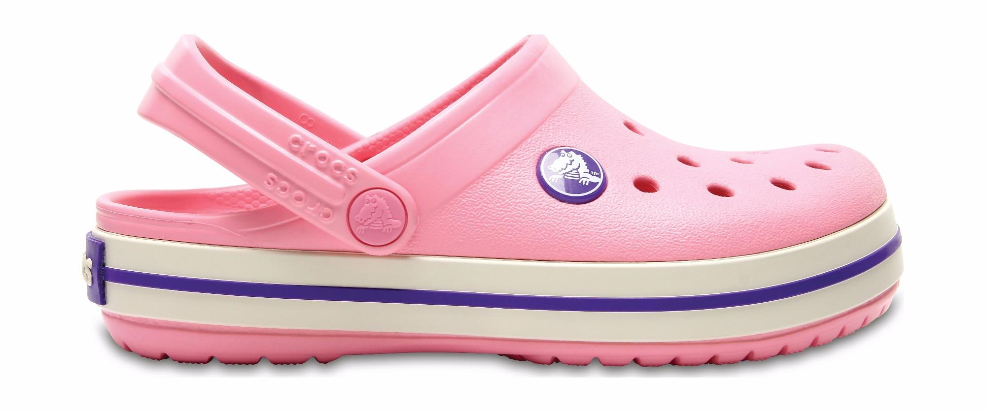 Crocs™ Kids' Crocband Clog Peony Pink/Stucco 32