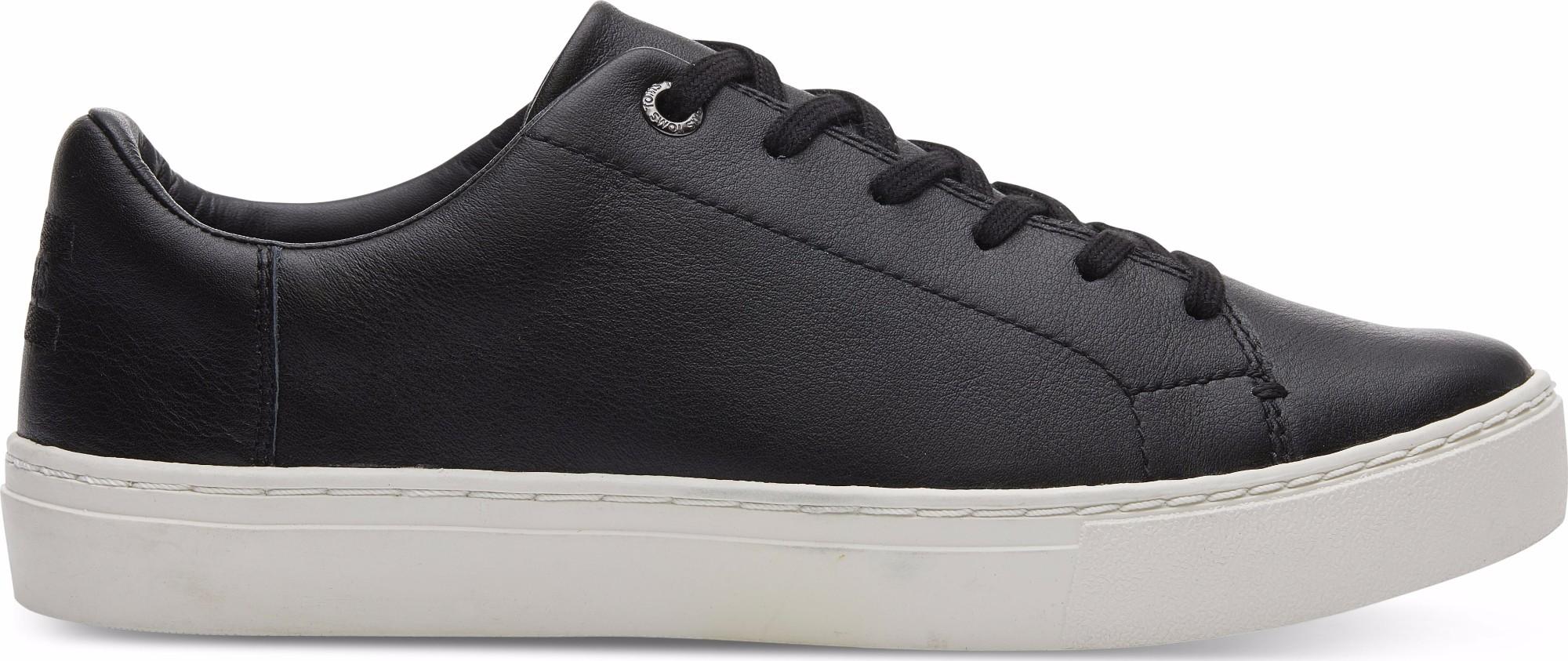 TOMS Leather Women's Lenox Sneaker Black 38