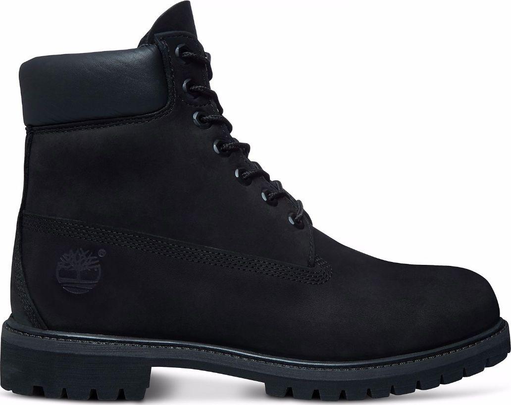 TIMBERLAND 6 In Premium Boot Men Black Nubuck 43
