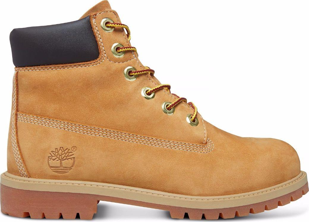 Timberland 6 In Premium Boot Junior's Wheat Nubuck 36