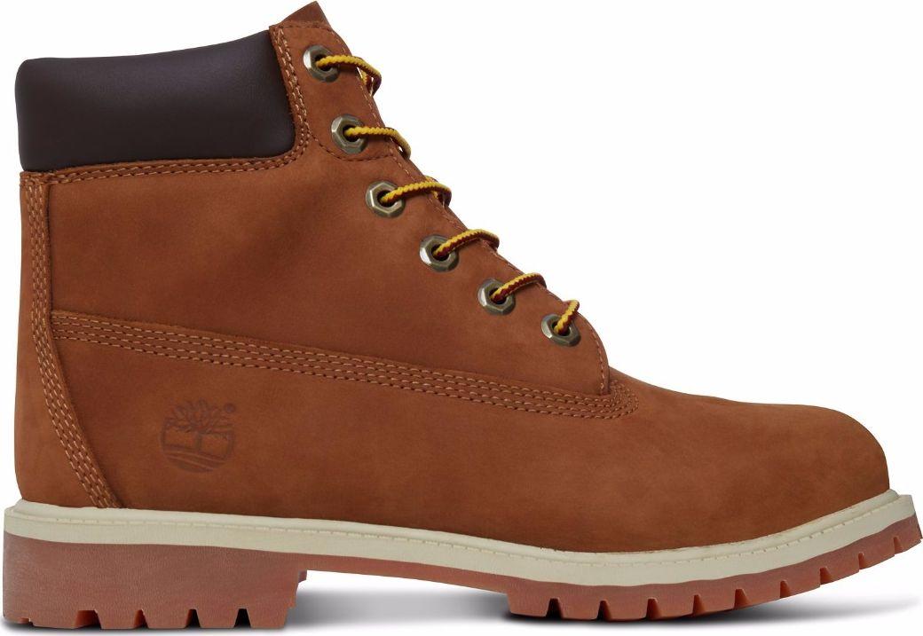 Timberland 6 In Premium Boot Junior's Rust Nubuck With Honey 36