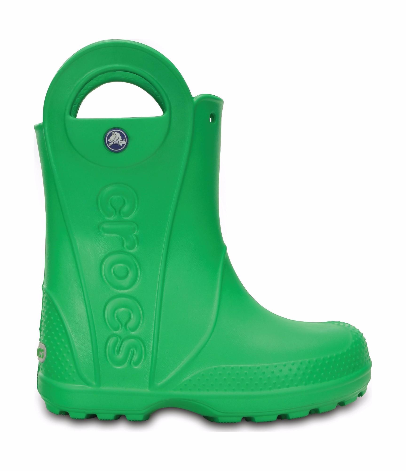 Crocs™ Kids' Handle It Rain Boot Grass Green 28