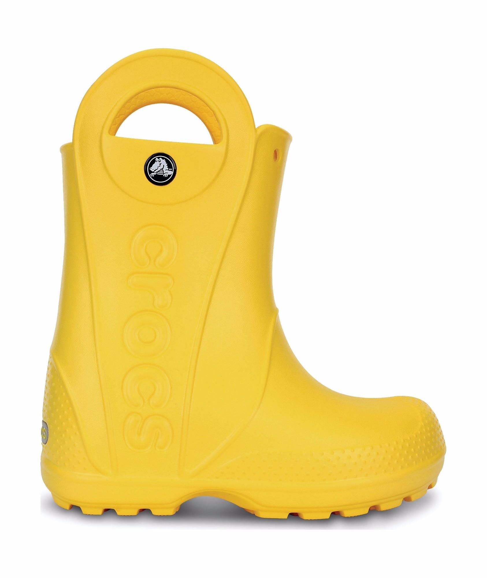 Crocs™ Kids' Handle It Rain Boot Yellow 32