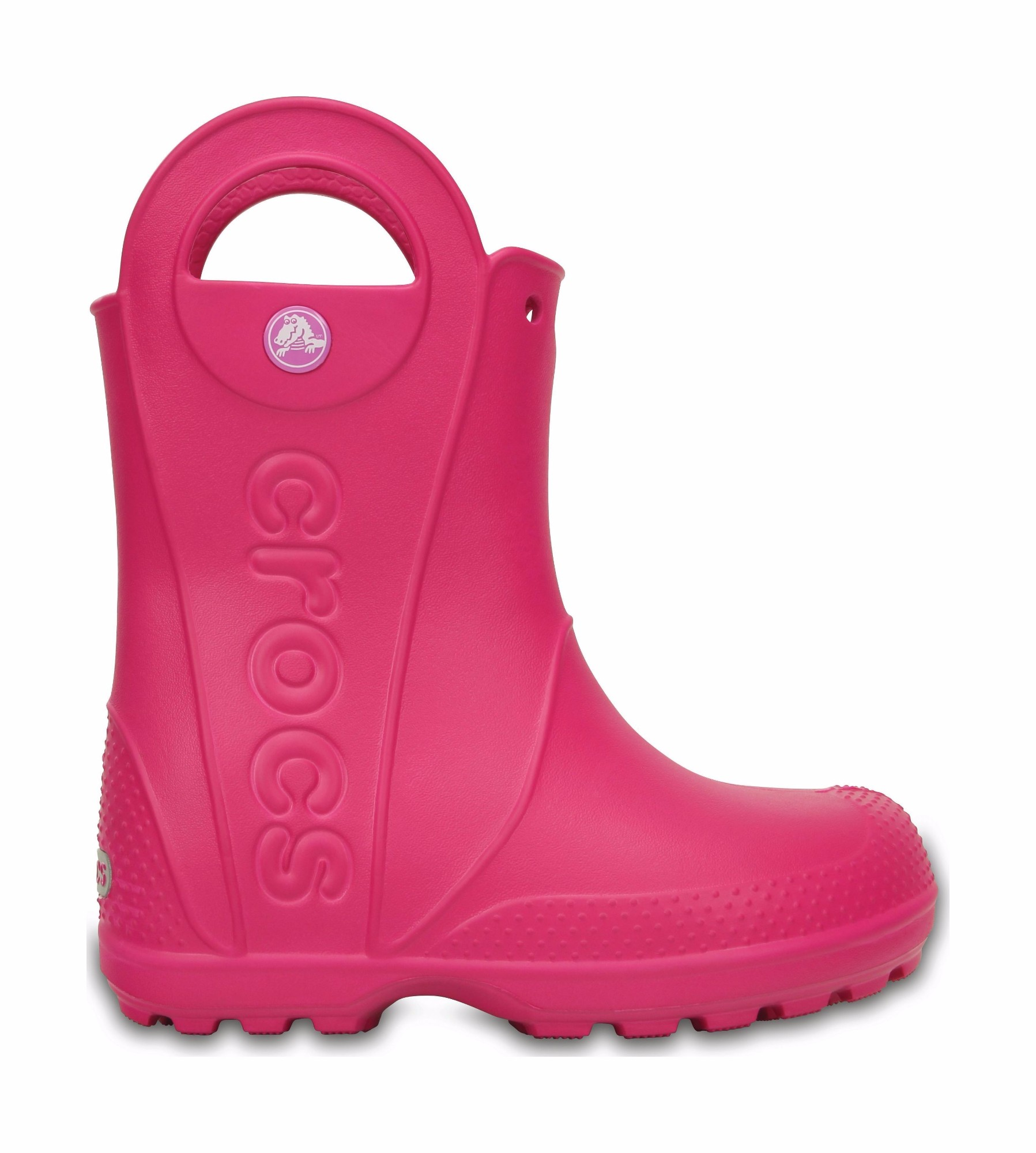 Crocs™ Kids' Handle It Rain Boot Candy Pink 29
