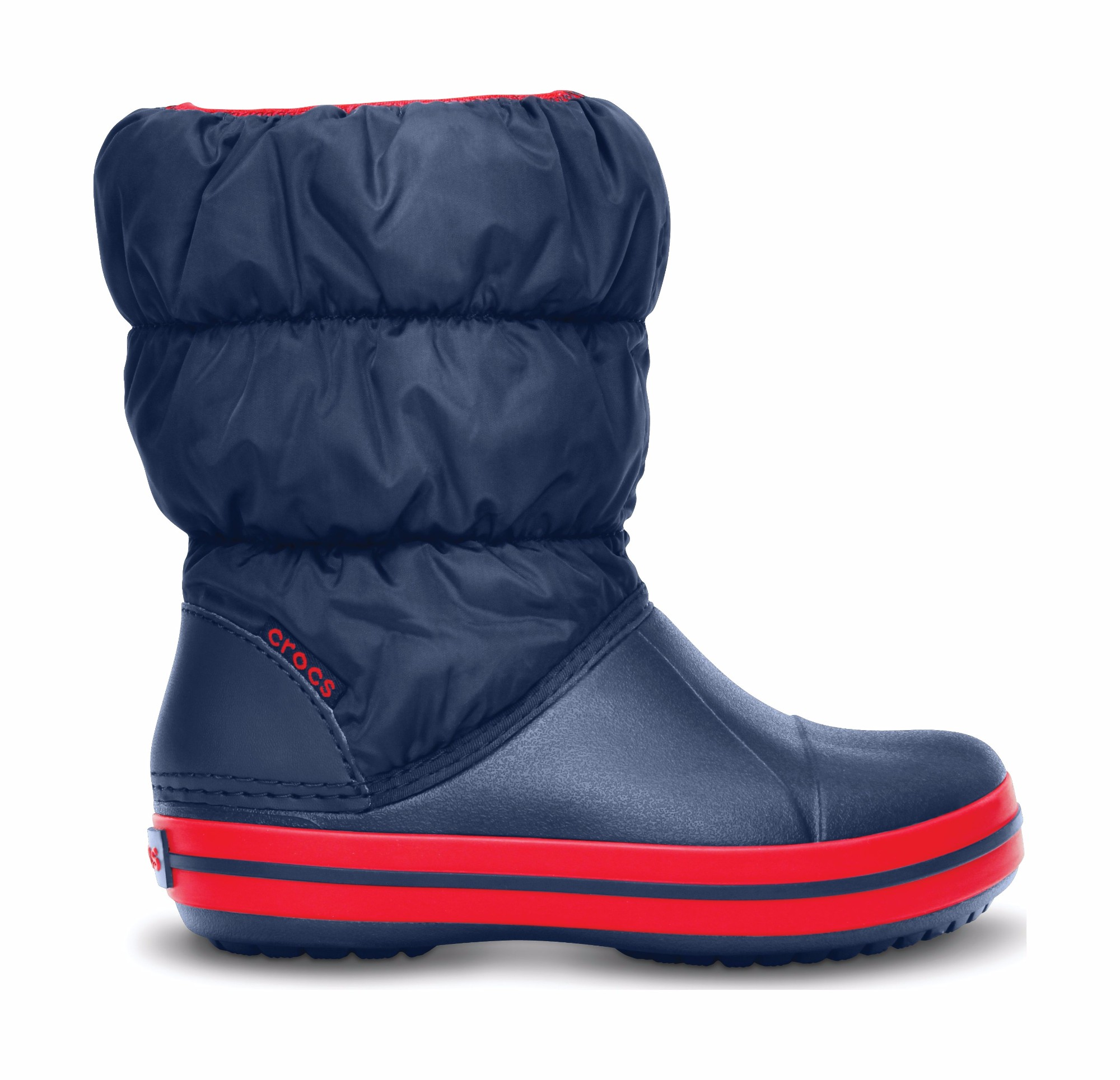 Crocs™ Kids' Winter Puff Boot Dark blue/Red 33,5