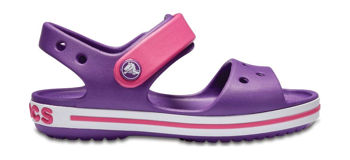 Crocs™ Kids' Crocband Sandal Amethyst/Paradise Pink 21