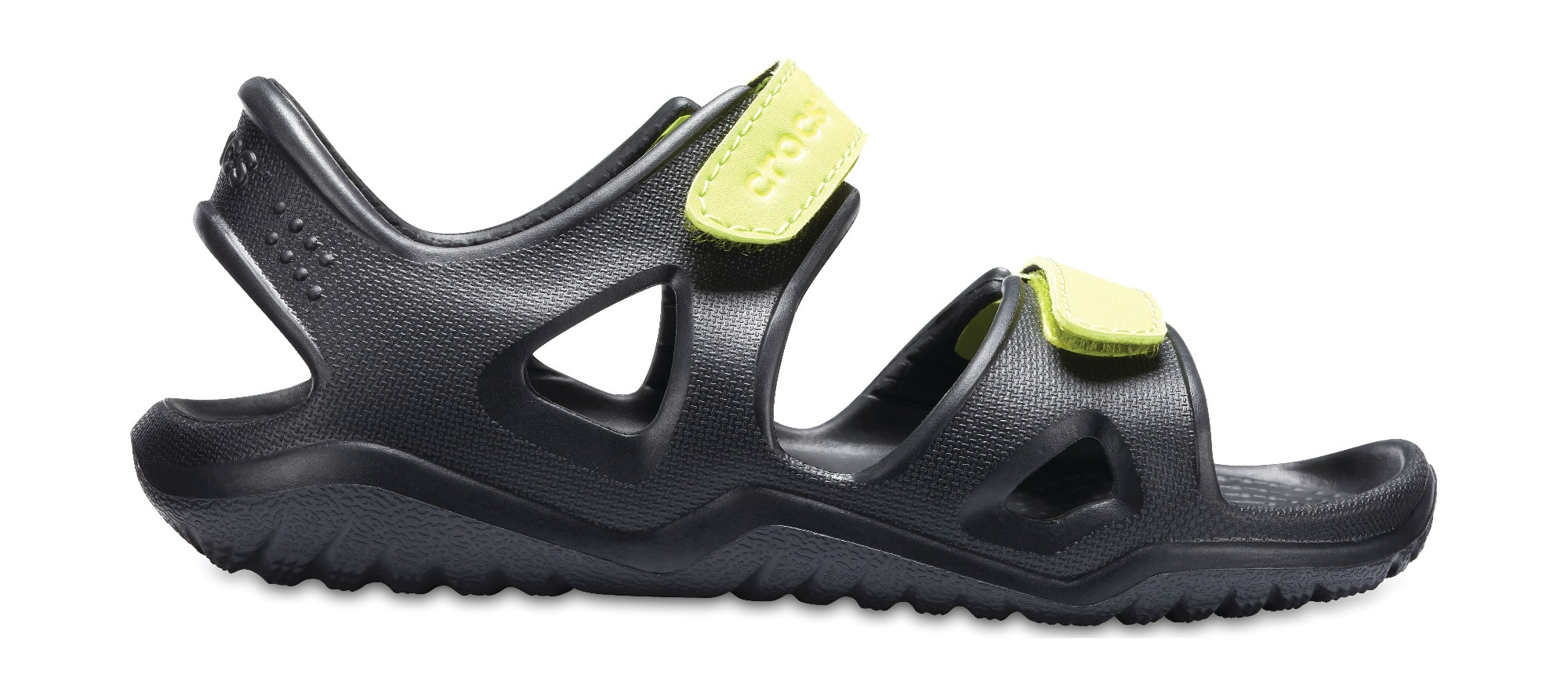 Crocs™ Kids' Swifwater River Sandal Black/Volt Green 33,5