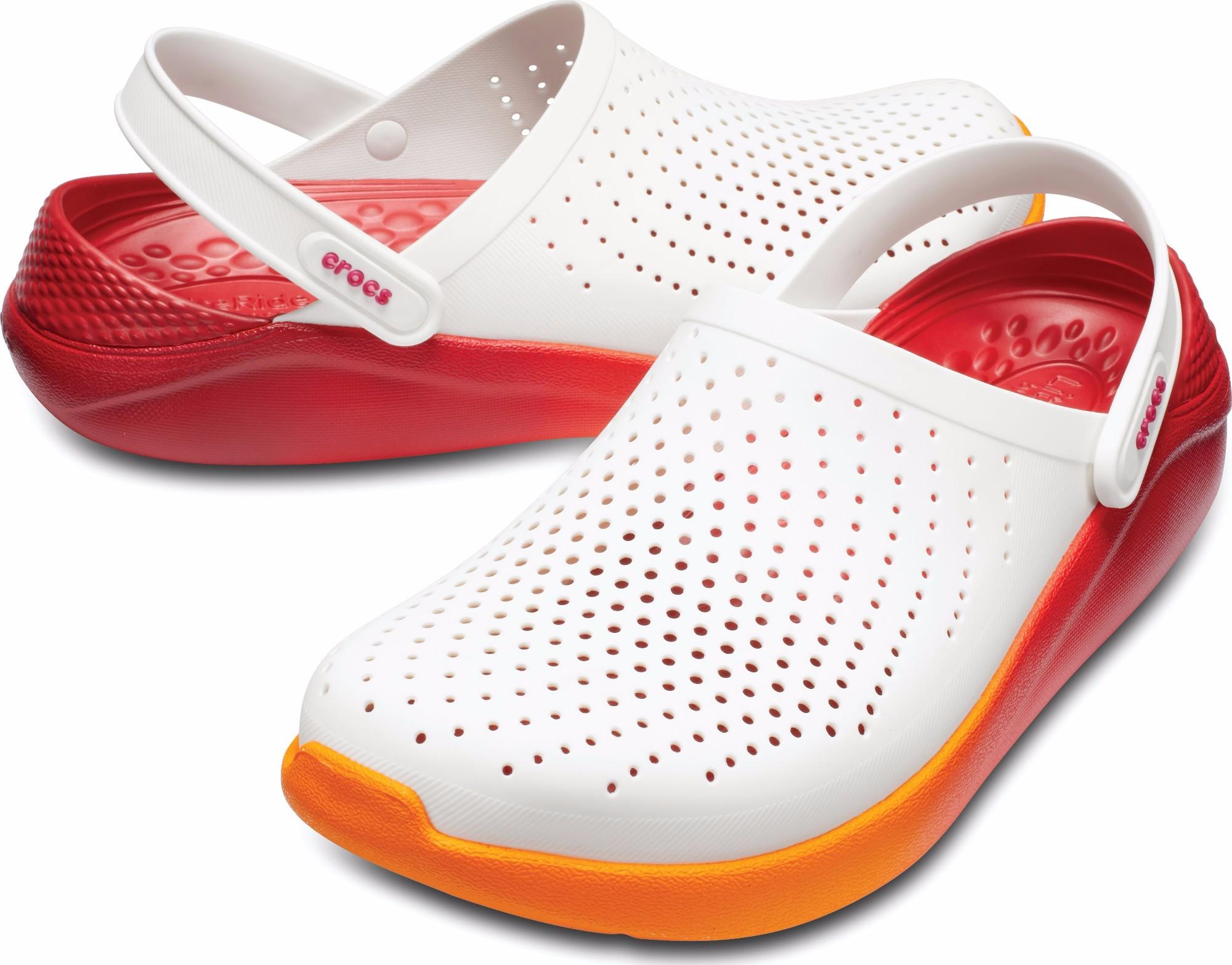 bcf7915be6445e Previous. Crocs™ LiteRide Graphic Clog White Orange ...