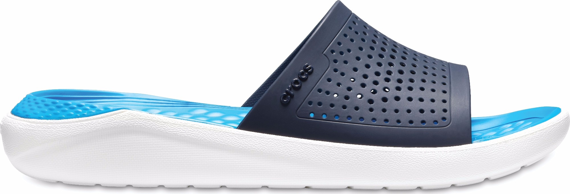 Crocs™ LiteRide Slide Navy/White 37,5
