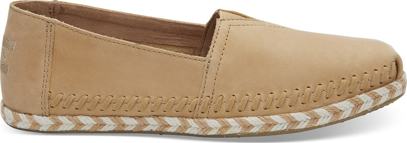 TOMS Leather Rope Sole Women's Alpargata Honey 41