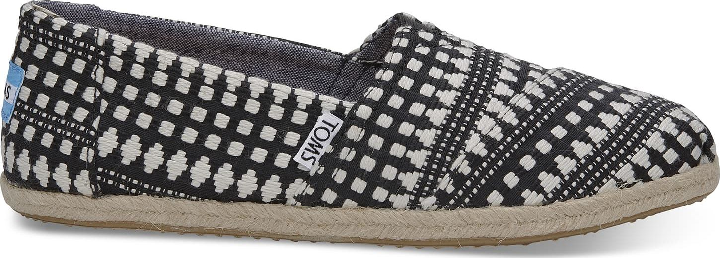TOMS Tribal Rope Sole Women's Alpargata Black Diamond 39
