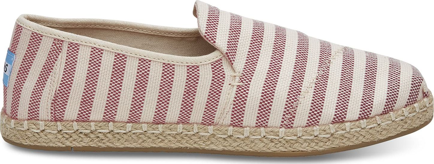 TOMS Woven Stripe Women's Deconstructed Alpargata Red 37,5