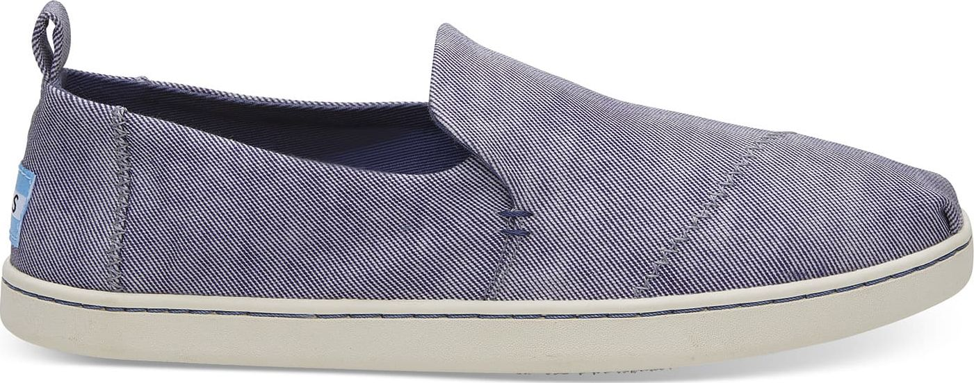 TOMS Washed Twill Women's Deconstructed Alpargata State Blue 39