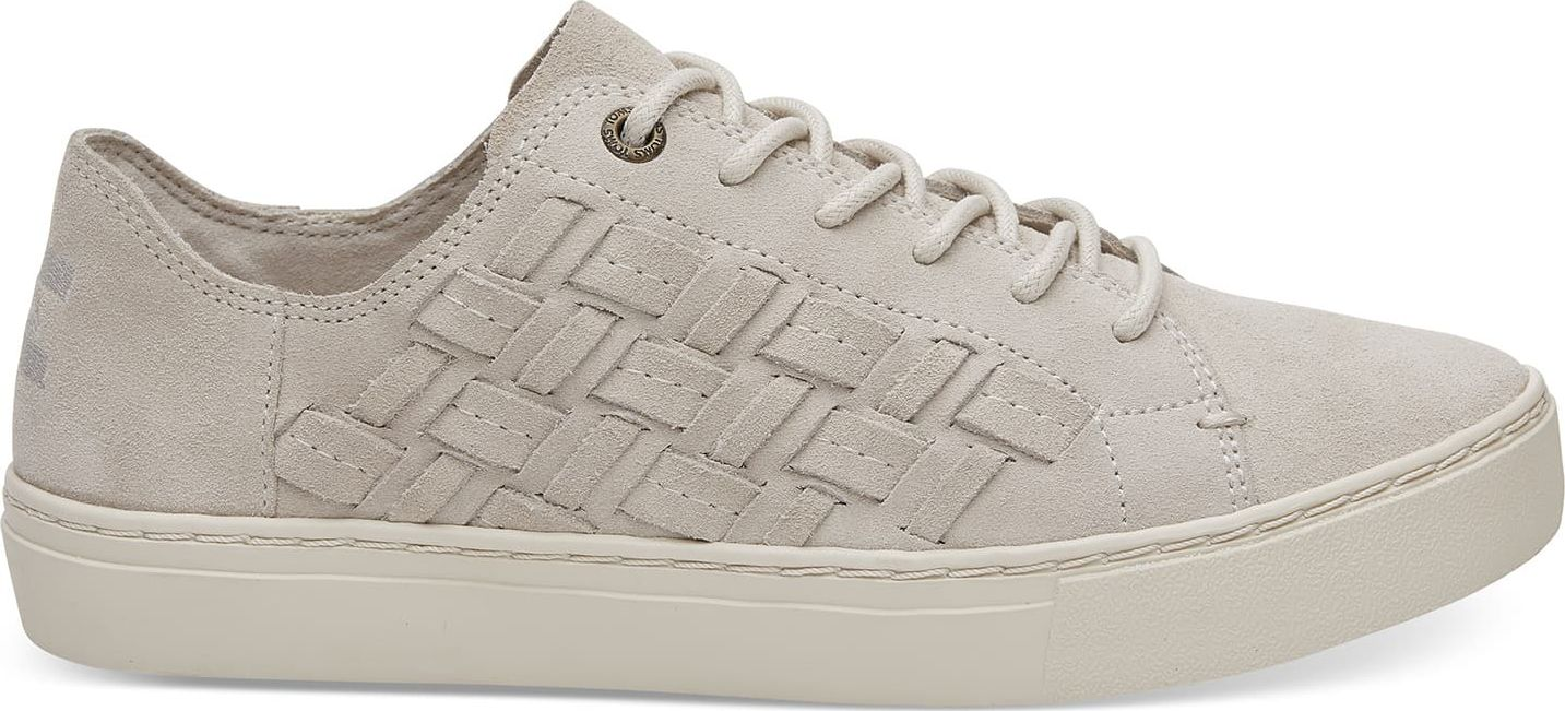 TOMS Suede Basketweave Women's Lenox Sneaker Birch 39